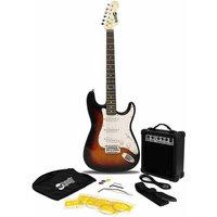 RockJam RJEG02 Full Size Sunburst Electric Guitar Super Kit with 10 Watt Amp