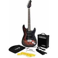 Jaxville ST1 PK Demon ST Style Electric Guitar Bundle with 10 Watt Amp