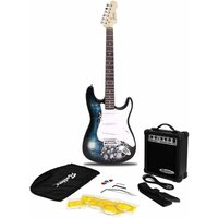 Jaxville ST1 PK Reaper ST Style Electric Guitar Bundle with 10 Watt Amp
