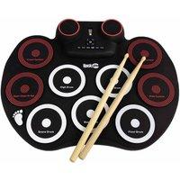 RockJam RJRD800 Rechargeable Roll Up Drum Kit