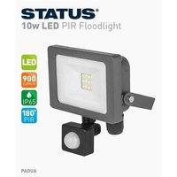 Status Slimline LED PIR Motion Sensor Light White, Grey