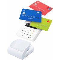 SumUp Air Card Payment Reader with Cradle Docking Station Bundle, White