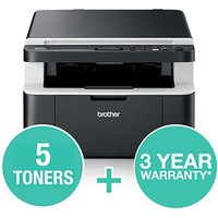 Brother DCP-1612WXLVB Mono Laser All-In-One Printer Value Bundle
