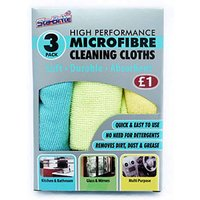 Image of High Performance Microfibre Cloths Pack of 3