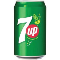 7-Up Lemon and Lime Canned 330ml Pack of 24, Green