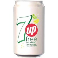7 Up Free Lemon and Lime Canned 330ml Pack of 24, Green