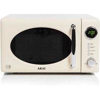 Akai 700 Watt Digital Microwave, Cream