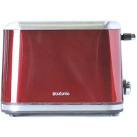 Buy Brabantia 2 Slice Toaster Red Brushed Stainless Steel - Ryman