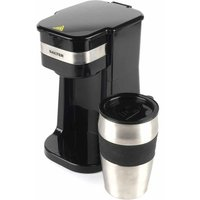 Salter Coffee Maker to Go Personal Filter Coffee Machine with Travel Mug, Stainless Steel