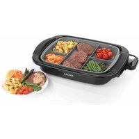 Salter Marble Coated Multi Portion Grill, Black