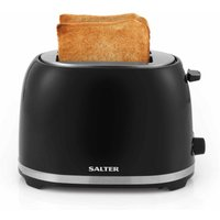 Buy Salter Deco 2 Slice Toaster Black with Stainless Steel, Black - Ryman