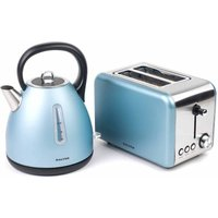 Buy Salter Metallic Polaris Jug Kettle and 2-Slice Toaster Set, Metallic Blue - Ryman
