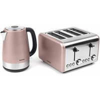 Buy Salter Metallic Polaris Jug Kettle and 4-Slice Toaster Set, Champagne - Ryman