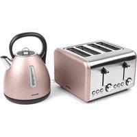 Buy Salter Metallic Polaris Dome Kettle and 4 Slice Toaster Set, Champagne - Ryman