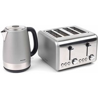Buy Salter Metallic Polaris Jug Kettle and 4-Slice Toaster Set, Titanium - Ryman
