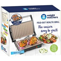 Weight Watchers Fold Out Marble Health Grill  Stainless Steel