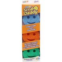 Scrub Daddy Scrubbing Sponge Assorted Colours 3 Pack