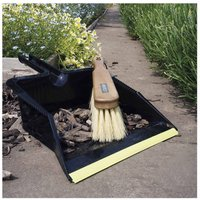 Charles Bentley National Trust Dustpan and Brush Set Large, White