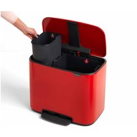 Brabantia Bo Pedal Bin 11 Plus 23 litre, Red