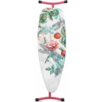 Brabantia Size D Ironing Board with Silicon Iron Stand 135x45cm, Raspberry