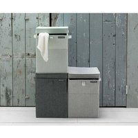Brabantia Rectangular Laundry Box 35 Litre, Charcoal