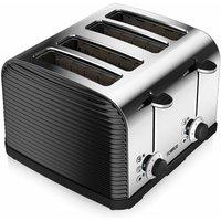 Buy Tower 4 Slice Linear Toaster Black, Black - Ryman