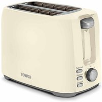 Buy Tower 2 Slice Toaster, Cream - Ryman