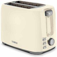 Buy Tower 2 Slice Toaster, Cream - Ryman