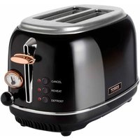 Buy Tower 2 Slice Rose Gold Edition Stainless Steel Toaster, Black - Ryman