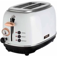 Buy Tower 2 Slice Rose Gold Edition Stainless Steel Toaster, White - Ryman