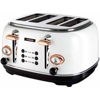 Buy Tower 4 Slice Rose Gold Edition Stainless Steel Toaster, White - Ryman