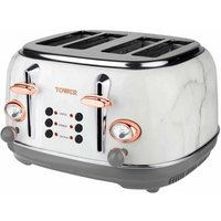 Buy Tower 4 Slice Rose Gold Edition Marble Stainless Steel Toaster, Marble - Ryman