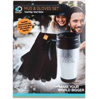 Discovery Adventures Thermal Mug and Smart Gloves Set, Black
