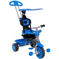 Charles Bentley 4 In 1 Kids Trike With Canopy And Safety Guard 10 Months-3 Years, Blue