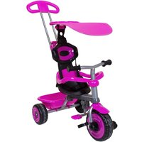 Charles Bentley 4 In 1 Kids Trike With Canopy And Safety Guard 10 Months-3 Years, Pink