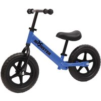 Charles Bentley Monster Kids 12 Inch Balance Training Bike Age 18 Months - 5 Years, Blue