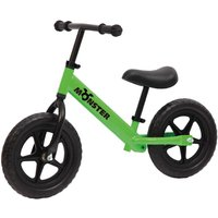 Charles Bentley Monster Kids 12 Inch Balance Training Bike Age 18 Months - 5 Years, Green