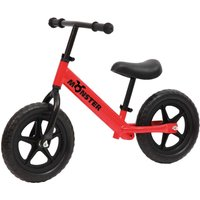 Charles Bentley Monster Kids 12 Inch Balance Training Bike Age 18 Months - 5 Years, Red