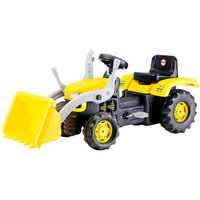 Charles Bentley Dolu Kids Ride On Yellow Digger With Shovel Loader, Yellow