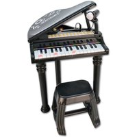 Charles Bentley Bontempi Electronic Grand Piano with Stool, Black