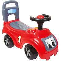 Charles Bentley Dolu Kids Push Along Sit n Ride Car with Under Seat Storage, Red