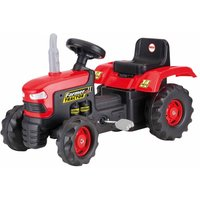 Charles Bentley Dolu Kids Ride On Red Tractor Pedal Operated Toy, Red