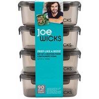 Joe Wicks 4 Piece Rectangular Container Set 920ml Grey, Grey