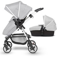 Silver Cross Wayfarer pushchair and carrycot - Silver frame / Platinum