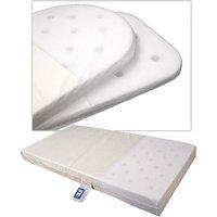 Samuel Johnston Moses Basket Foam Safety Mattress - 75 x 33 cm (Oval Ended)
