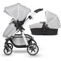 Silver Cross Pioneer pushchair and carrycot - Platinum