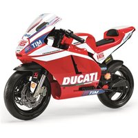Peg Perego Ducati GP 12 Volt Motorbike and Stabilisers - Red