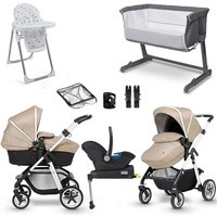 Silver Cross Pioneer Complete Travel System and Premium Nursery Bundle - Silver frame / Onyx