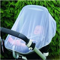 Clippasafe Insect Net for Infant Car Seat - White