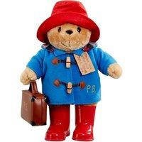 'Rainbow Designs Large Classic Paddington Bear With Boots & Suitcase - 33cm